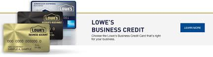 Store Business Credit Cards Lowe U0027s Credit Center