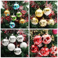 plastic baubles handmade painted tree balls