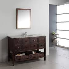 48 Inch Bathroom Vanity With Granite Top New Haven Walnut Brown 48 Inch Bath Vanity With 8 Drawers And