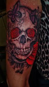 day of the dead día de muertos and sugar skull tattoos