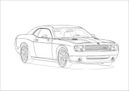 Dodge Challenger Drawing - dust