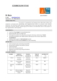sle resume for freshers career objective sle resume for msc computer science fresher 28 images resume