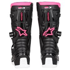 pink motocross boots alpinestars girls mx boots stella tech 3 black white pink 2018