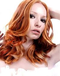 blonde highlights in red hair popular long hairstyle idea