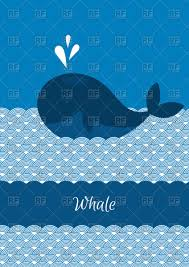 blue whale in the cartoon sea vector image 60636 u2013 rfclipart