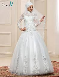 wedding dress sleeve sleeve muslim turtleneck wedding dresses gown 2017