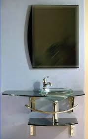 wall mount glass sink mount vanity sink vessel sink mirror and faucet set sv7081