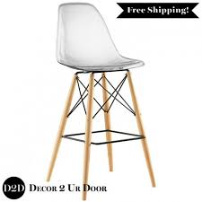 Ghost Bar Stools Clear Acrylic Ghost Bar Stool With Wooden Legs