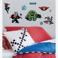 Wall Decals For Boys Room Avenger Assemble Peel And Stick 28 Piece Wall Decals Rmk2242scs