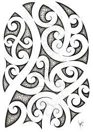 polynesian maori design drawing by