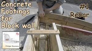 how to build a concrete block wall foundation concrete footing