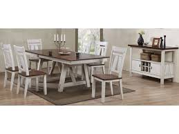 dining room table with wine rack bernards winslow two tone server with wine rack royal furniture