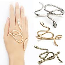 crystal snake bracelet images Punk snake crystal eyes hand animal palm bracelet bangle at jpg