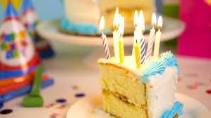 candles on the birthday cake stock footage video 14558683