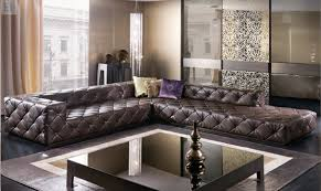 Sofas Chesterfield Style Top Graded Italian Genuine Leather Sofa Sectional Living Room Sofa