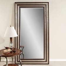 Wall Decor Mirror Home Accents Furniture Silver Leaf U0026 Black Accent Floor Leaner Mirror For