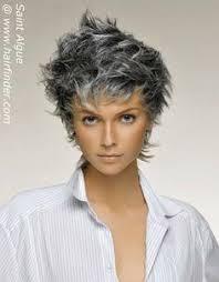 pictures of womens short dark hair with grey streaks silver fox hair styles for medium texture wavy hair silver hair