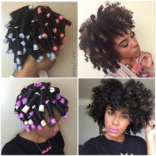 curling rods for short natural hair perm rod set on dry natural hair