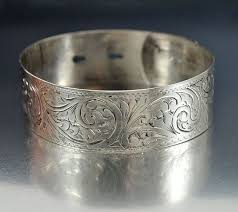 antique sterling silver cuff bracelet images Victorian engraved sterling silver bangle bracelet english antique jpg