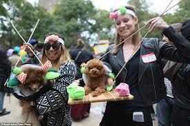 Winnie Pooh Dog Halloween Costume Hundreds Dogs Dress 25th Halloween Parade York