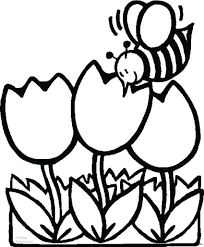 simple flower coloring pages image plants spring basic easy sheets