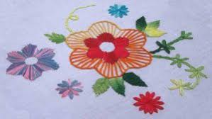 Fish Bone Stitch Embroidery Tutorials Embroidery Lazy With Buttonhole And Fishbone Stitch