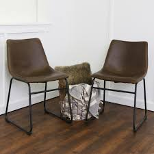 walker edison furniture company wasatch brown faux leather dining