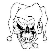 batman joker coloring pages killer clown coloring pages free printable skull tattoo designs