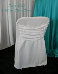 Folding Chair Cover Njs Design Event Party Rentals White Swag Back Folding Chair Cover