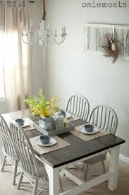Make Dining Room Table Make Over Your Old Table Into A Beautiful Two Tone Look My