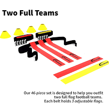 Best Flag Football Plays Amazon Com Trained Flag Football Set 10 Man Set Premium