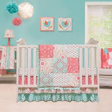 girls pink and green bedding baby bedding pink and grey the peanut shell mila baby