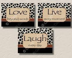 Bedroom Wall Art Words Leopard Print Word Art Room Cheetah Wall Decor