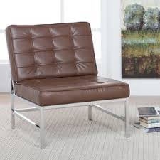 Tan Leather Accent Chair Modern Leather Accent Chairs Allmodern
