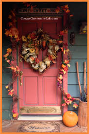 thanksgiving autumn a welcome home front door decorations