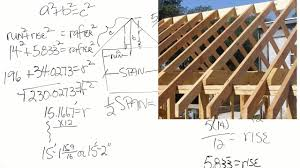 how to calculate the length of roof rafters captioned youtube
