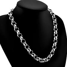 real silver necklace images Fashion man sterling silver pendant jewelry real solid 925 jpg