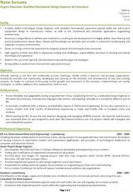 Mechanical Design Engineer Resume Objective Mechanical Design U003ca Href U003d