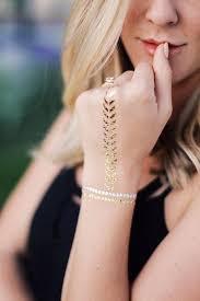 gold temporary tattoo bracelets u2013 tempotats