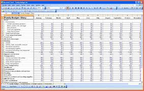 Family Budget Spreadsheet Monthly Bill Spreadsheet Template Free Bio Example