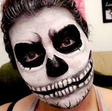 Skeleton Face Paint For Halloween by Halloween Makeup Evil Skull Special Effects Youtube