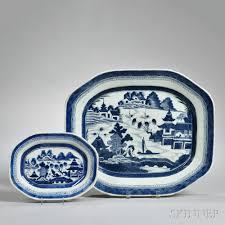 canton porcelain two canton porcelain platters sale number 2918t lot number 1216