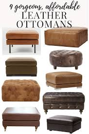 Ottomans by Affordable Modern Leather Ottomans Love U0026 Renovations