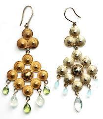 Colorful Chandelier Earrings Two Color Chandelier Earrings U2013 Wendy Mink Jewelry