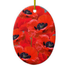 poppy ornaments keepsake ornaments zazzle