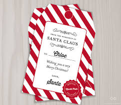 santa gift list personalized santa gift tags from santa claus pole