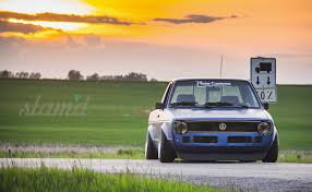 volkswagen rabbit pickup stanced built to drive the dub dynasty 1981 vw caddy u2013 slam u0027d mag