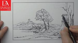 how to draw a landscape presented by drawing academy com 26 5