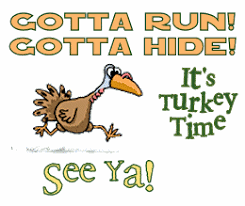 thanksgiving turkey running clipart clipartxtras