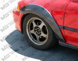 1996 2000 honda civic 2dr custom carbon fiber fender flare set vis